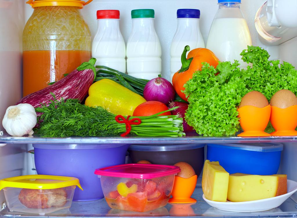 Crowded fridge