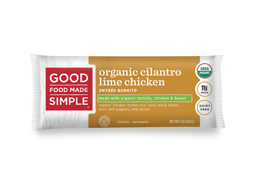 Good food made simple organic cilantro lime chicken