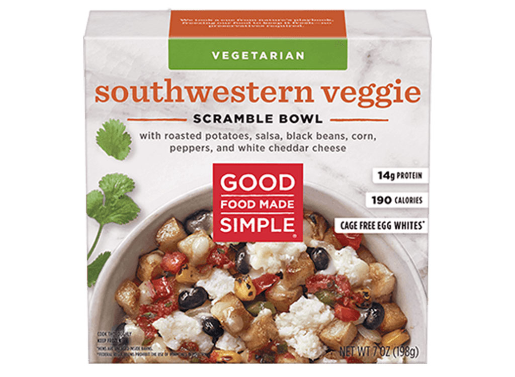 Good food made simple southwestern veggie scramble