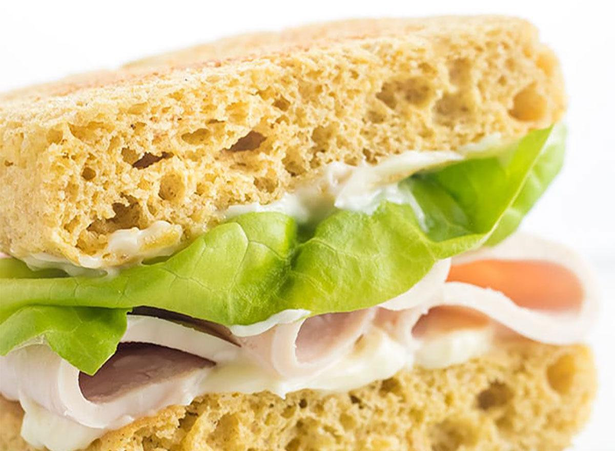 keto bread turkey sandwich