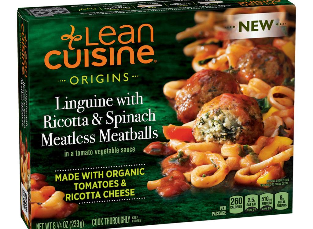 Lean cuisine linguine ricotta spinach meatless meatballs