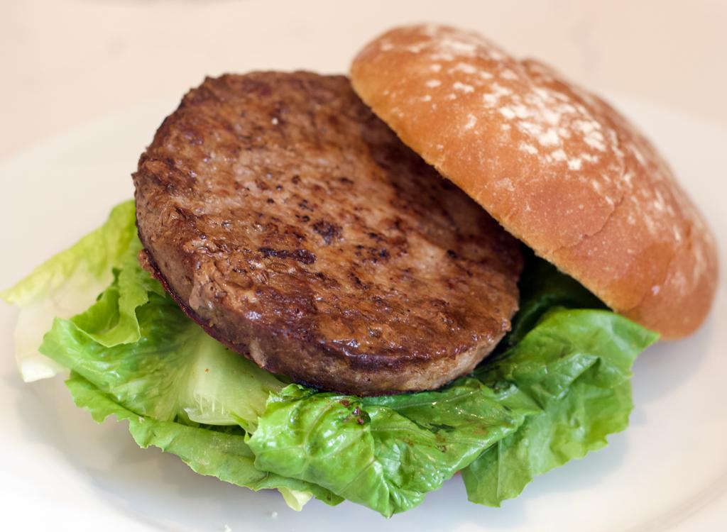 Open nature grass fed frozen burger
