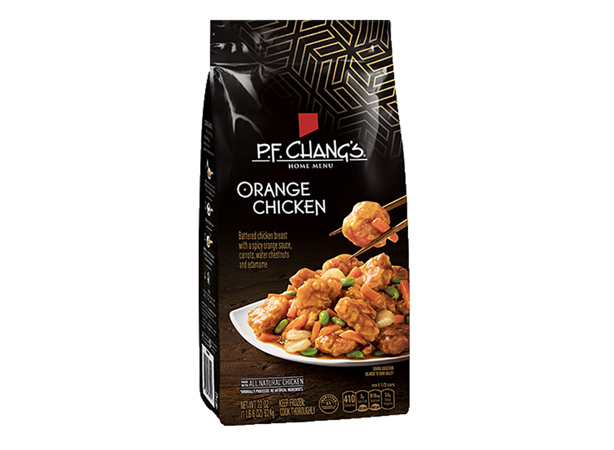 bag of frozen pf changs orange chicken