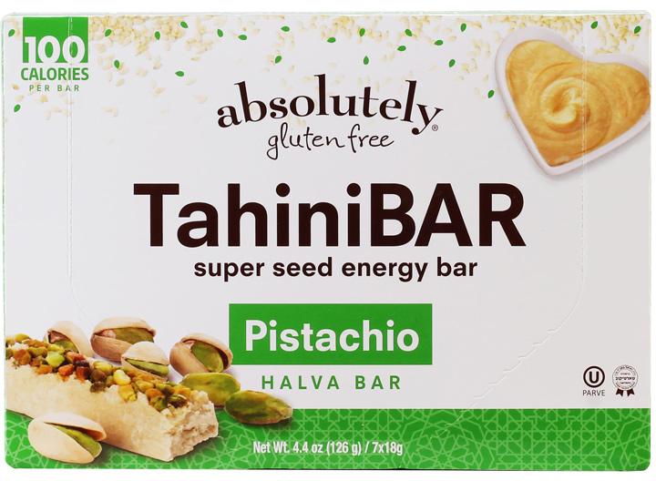 Pistachio tahini bar