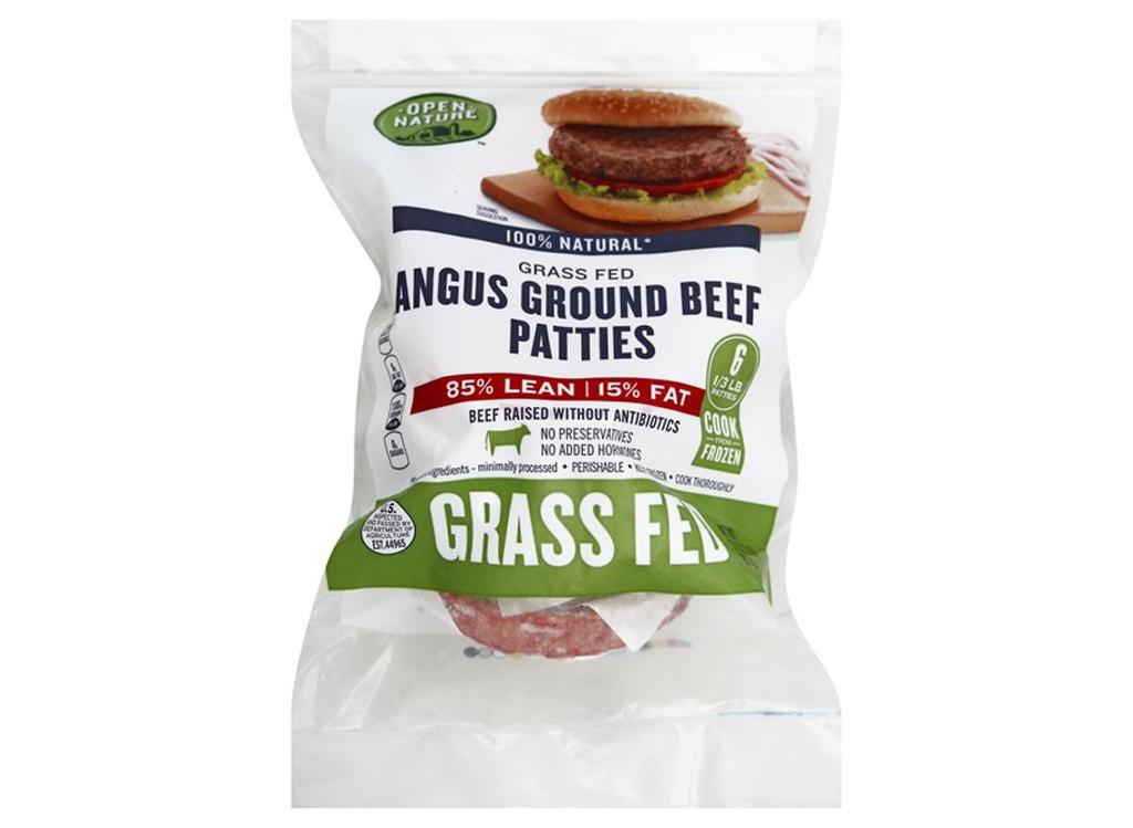 Safeway open nature frozen grass fed angus beef frozen burger