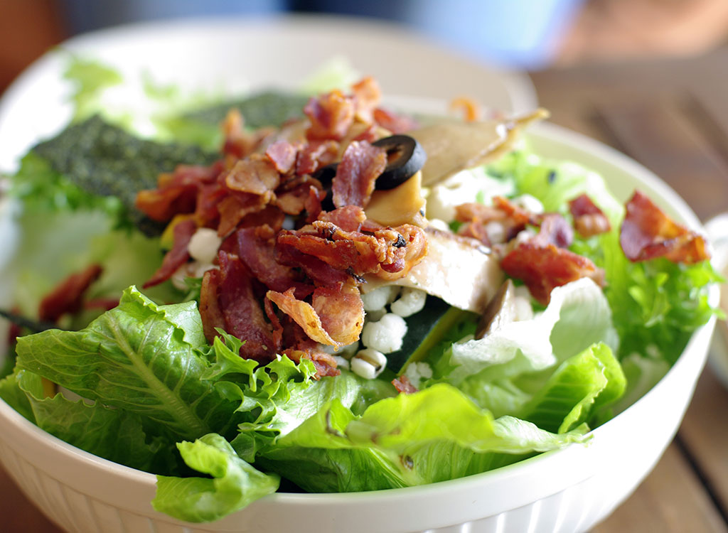 Salad bacon olives blue cheese