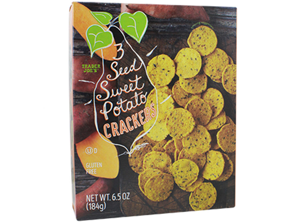 Three-seed sweet potato crackers