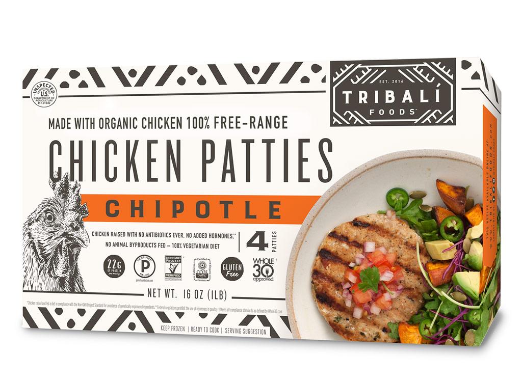Tribali foods chicken chipotle patties
