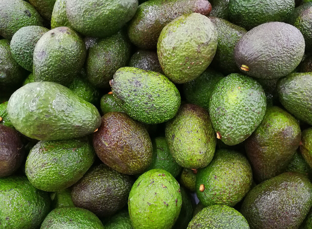 Avocados at different stages of ripeness