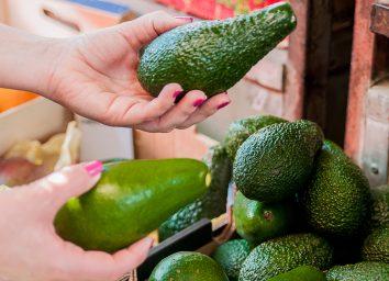 Different texture avocados