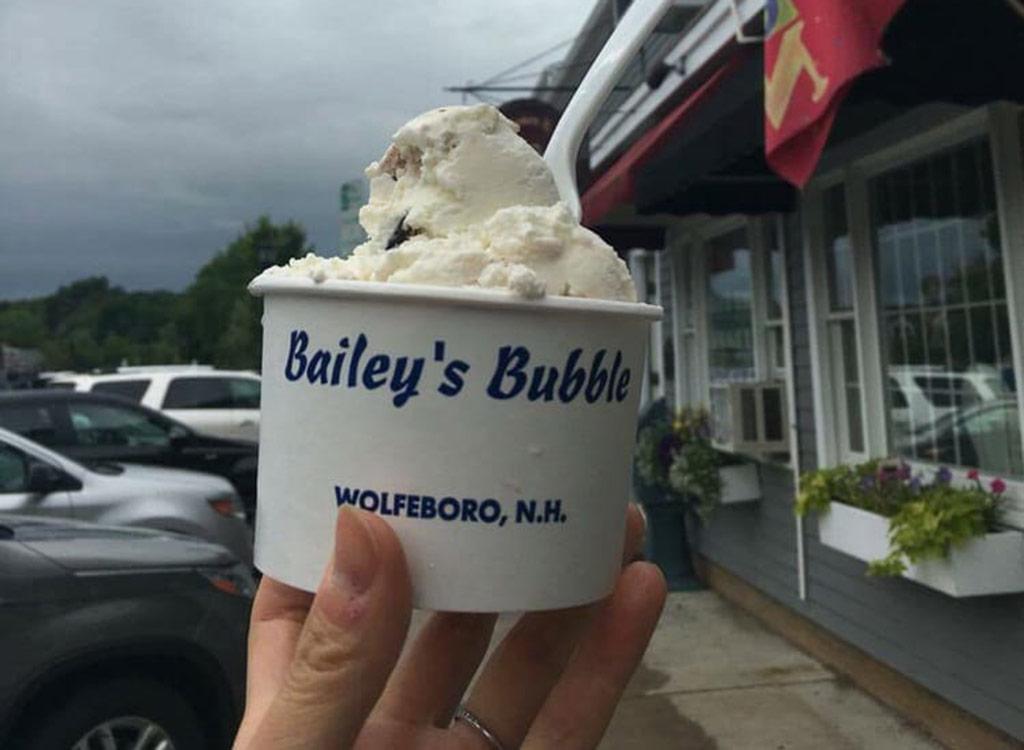 Bailey's bubble ice cream