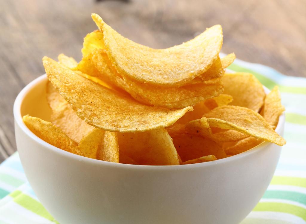 Bowl potato chips