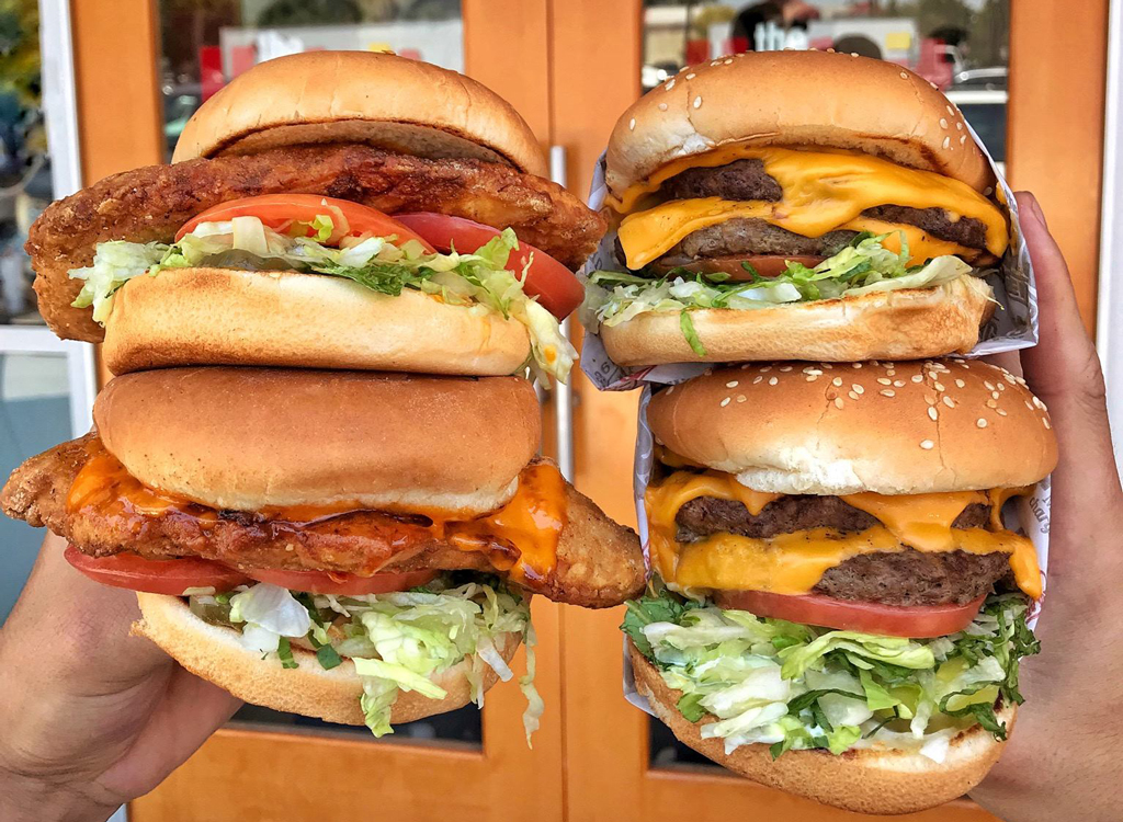 Burger and sandwich califonia
