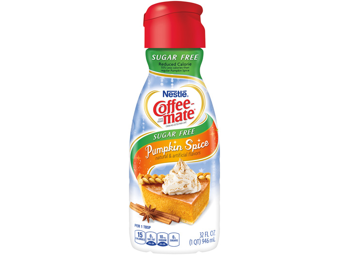 Coffee Mate sugar free pumpkin spice creamer