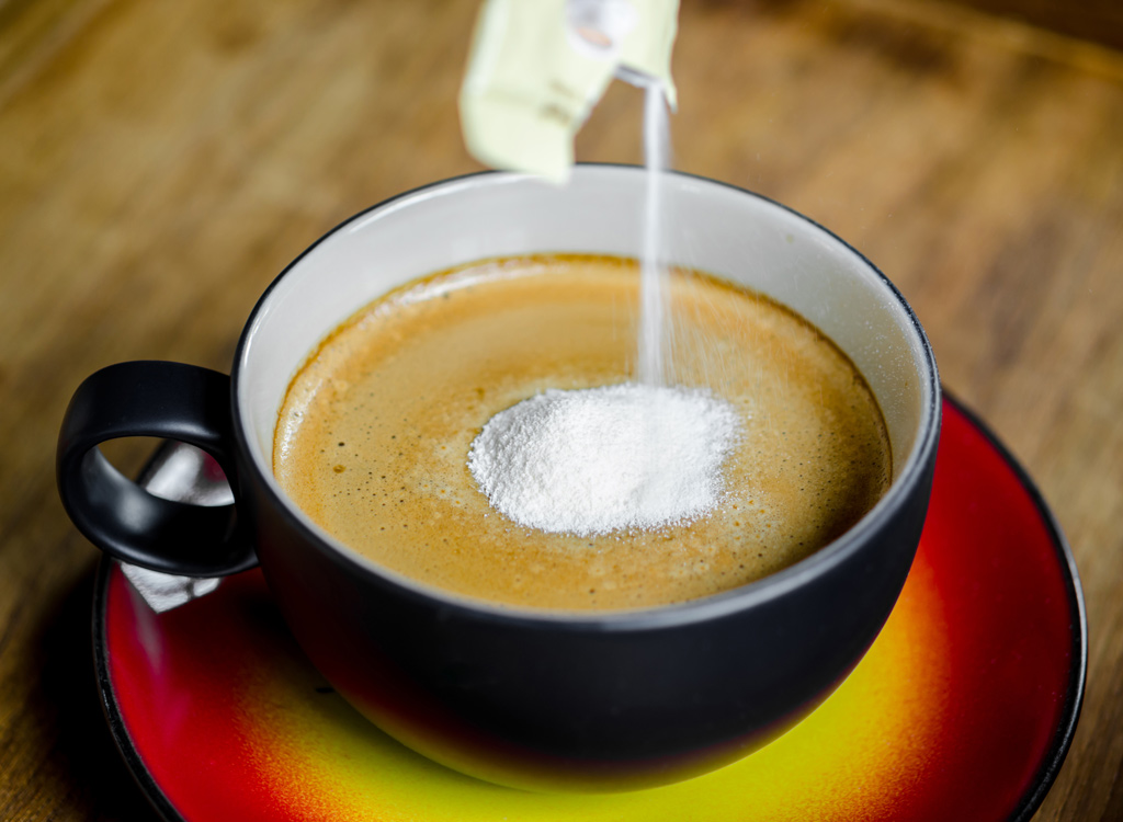 Coffee with powdered creamer