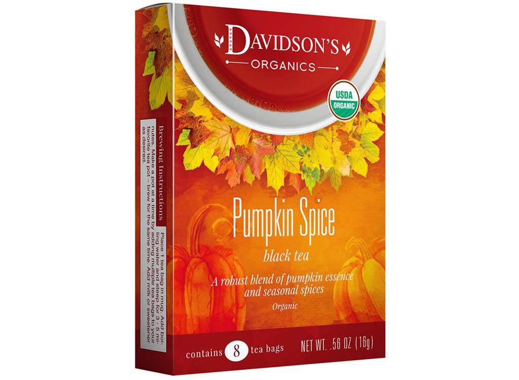 davidsons organics pumpkin spice black tea