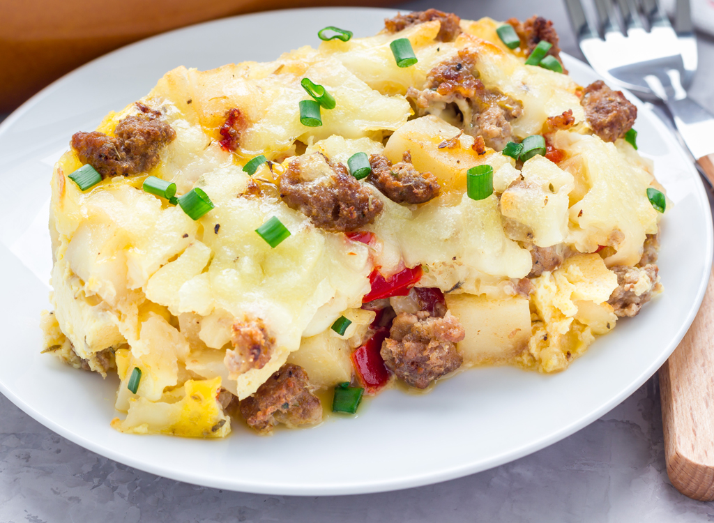 Egg casserole with potatoes