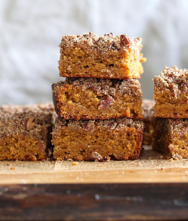 Gluten free sweet potato crumb cake