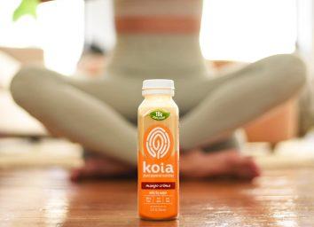 Koia mango smoothie yoga