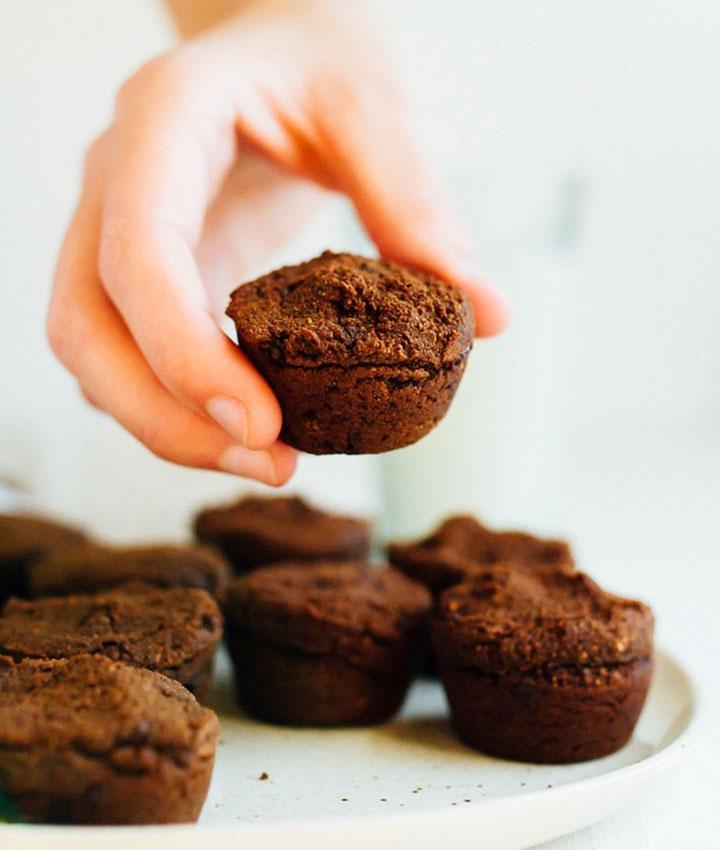 Sweet potato brownie bites vegan and gluten free