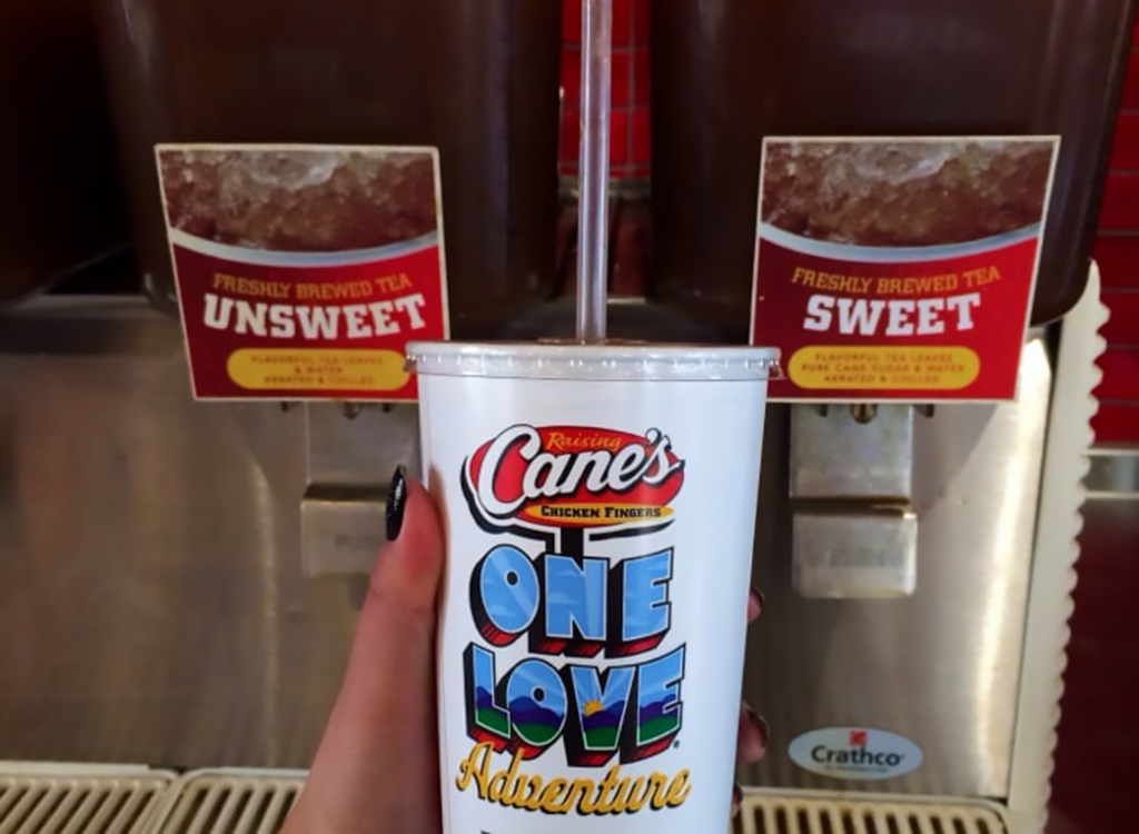 Unsweet tea and cup