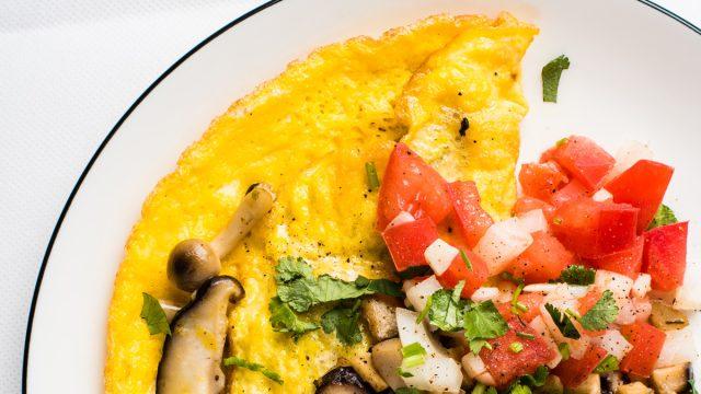 veggie salsa omelet