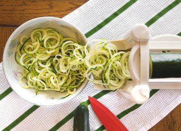 Zucchini noodles spiralized
