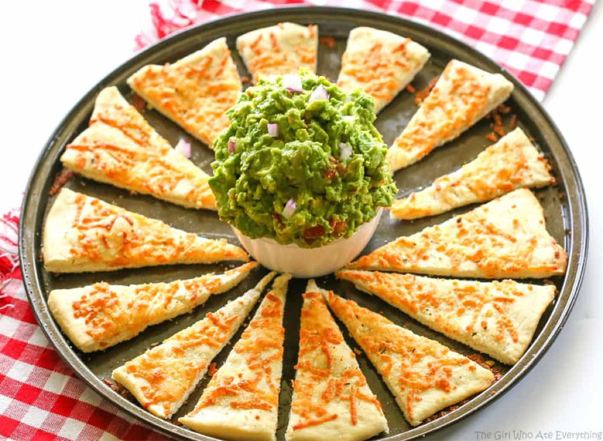 recipes with pizza dough chips & Italian Guac