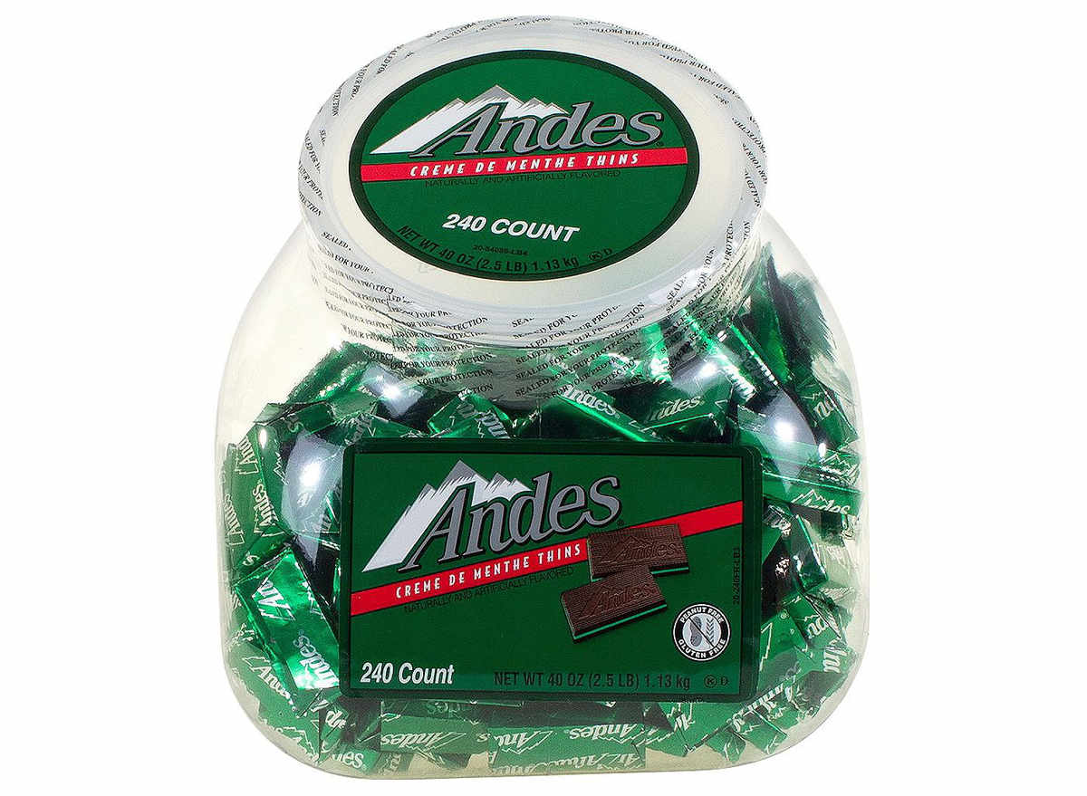 Andes creme de menth candy