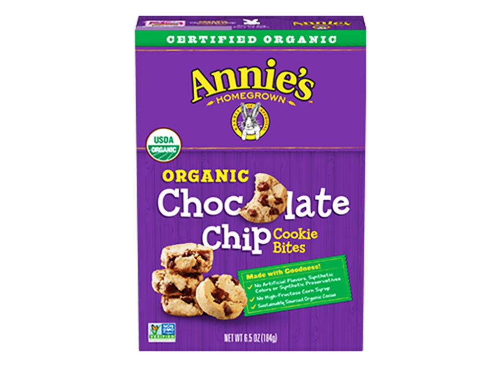 Annie's organic chocolate chip cookie bites