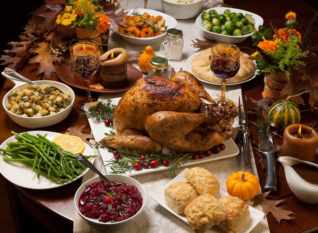 Big thanksgiving dinner