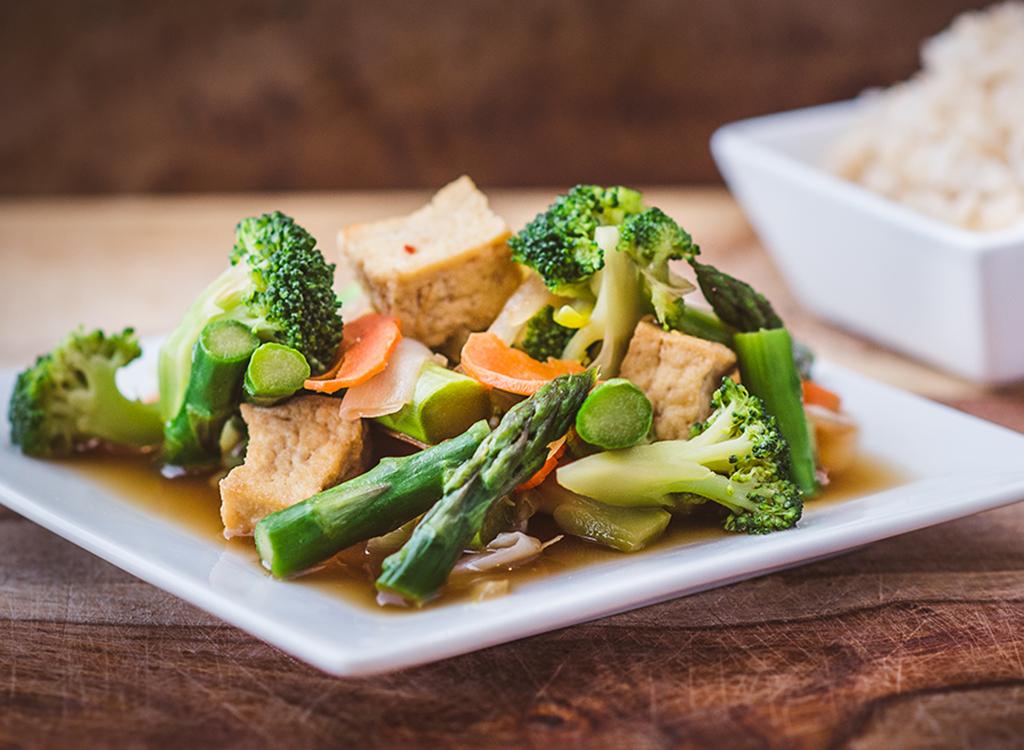 sauteed vegetables on plate