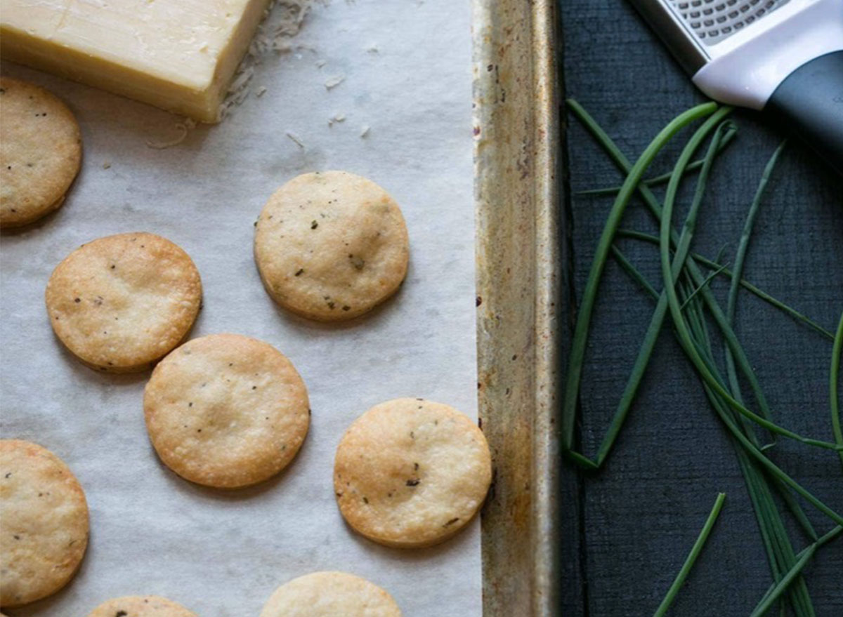recipes with pizza dough Cheddar and Chive Crackers