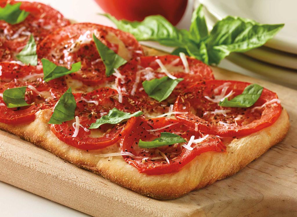 Cheesecake factory fresh basil tomato and cheese flatbread