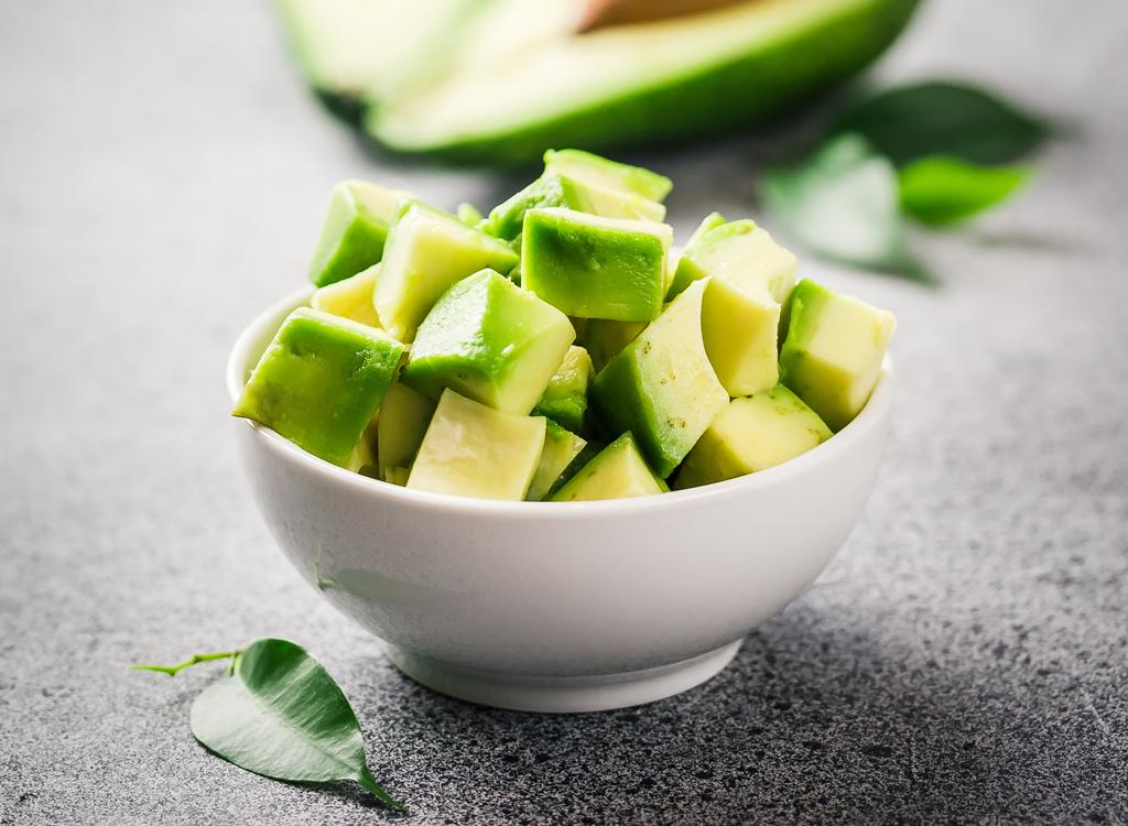 Cubed avocado