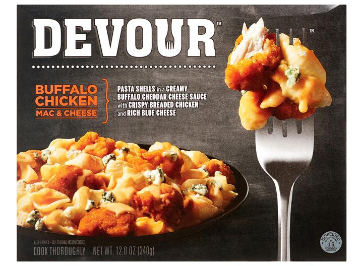Devour buffalo chicken mac and cheese