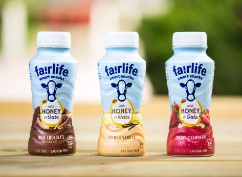 Fairlife smart snacks honey oats drinkable nutritional shake milk lactose free
