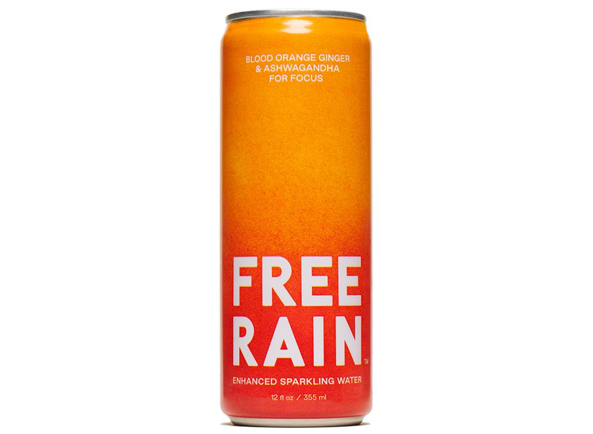 free rain sparkling water blood orange ashwagandha