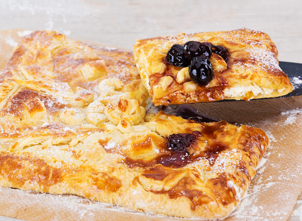 recipes with pizza dough fruit and cheese bake