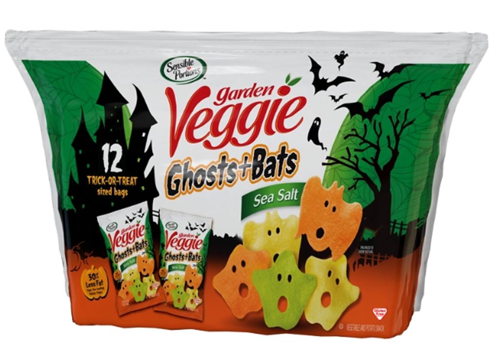 Garden veggie ghosts and bats