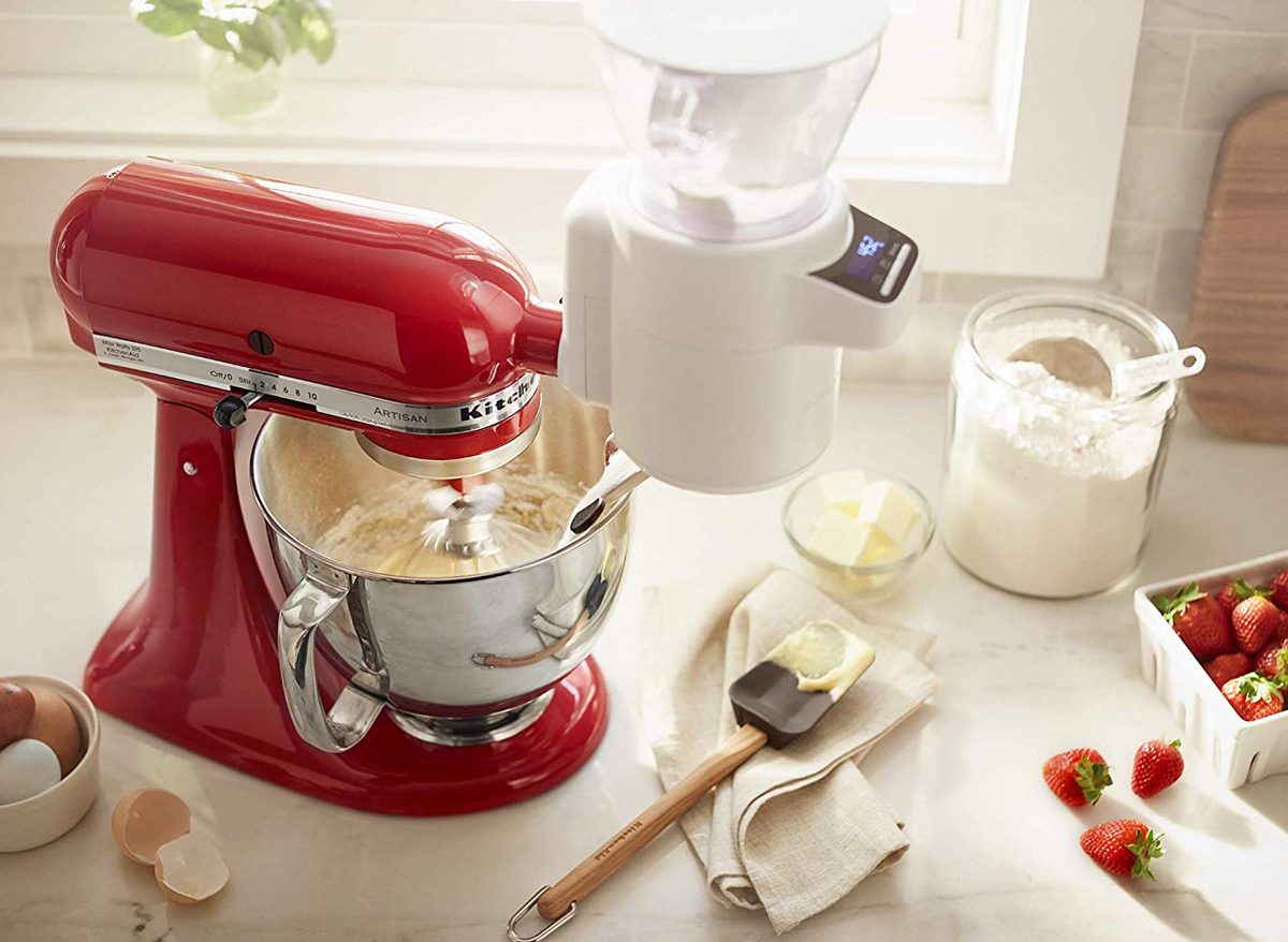 Kitchen aid stand mixer attachment sifter scale