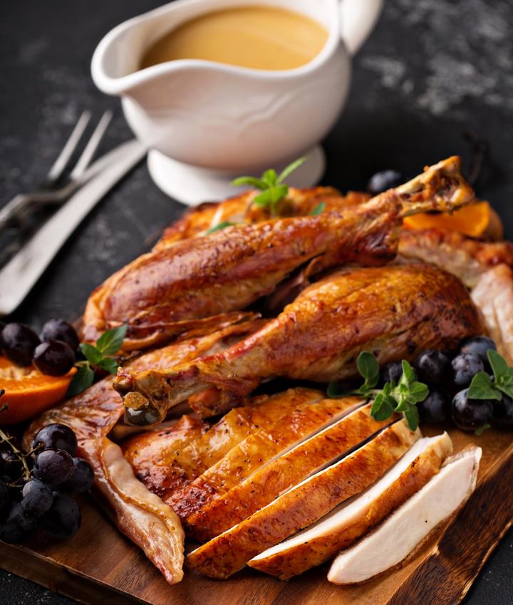 Leftover juicy turkey