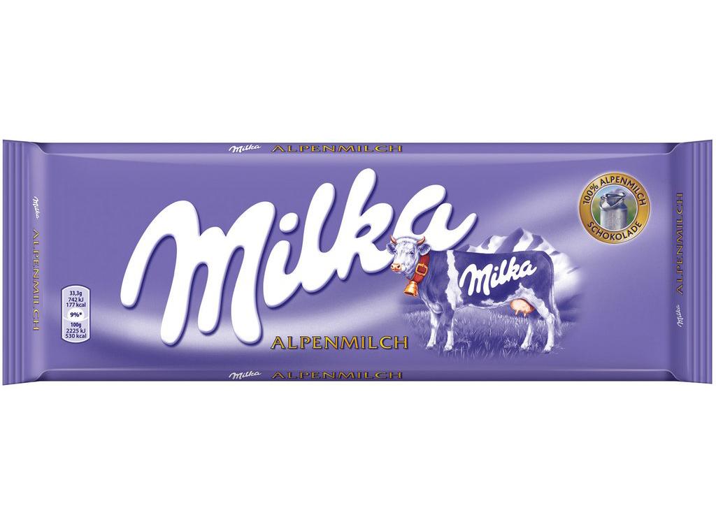 Milka milk chocolate bar