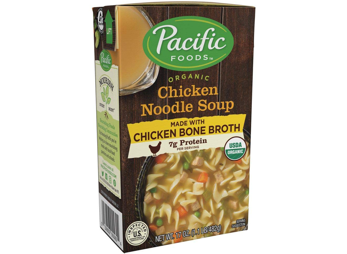 Pacific foods organic bone broth chicken noodle soup