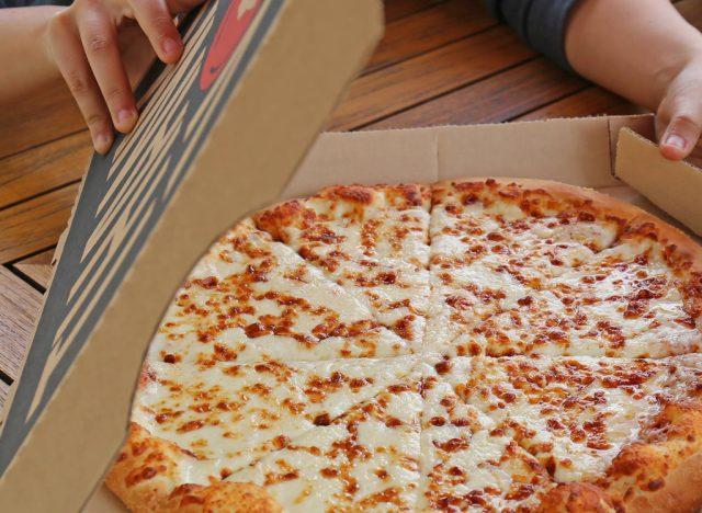 Pizza hut cheese pizza