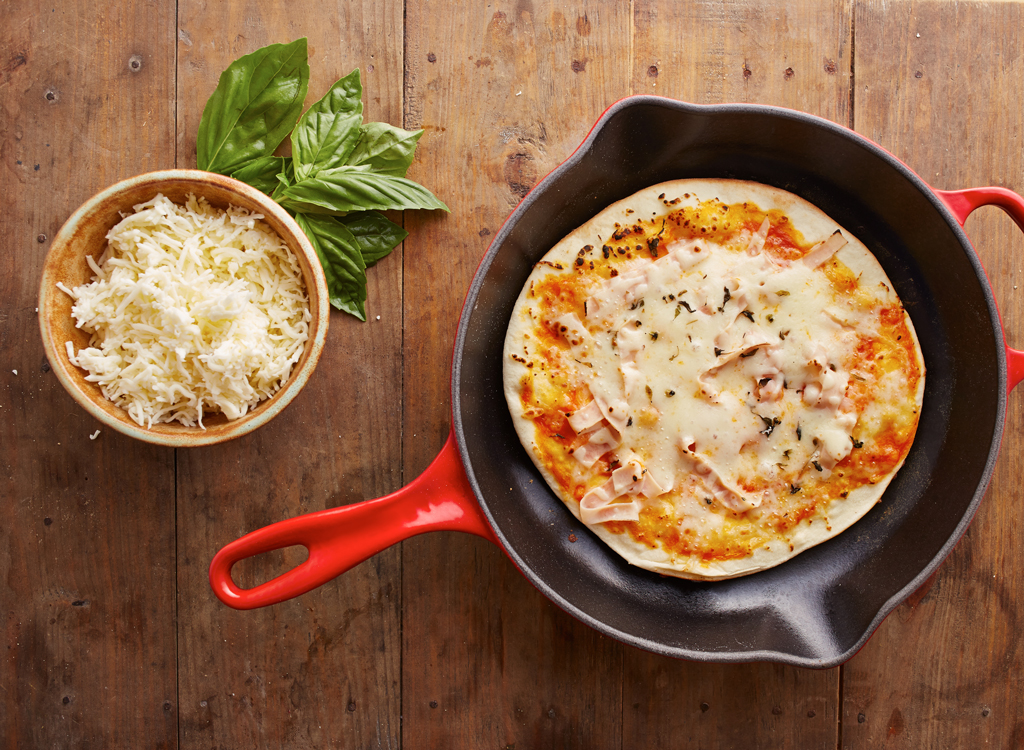Pizza in skillet