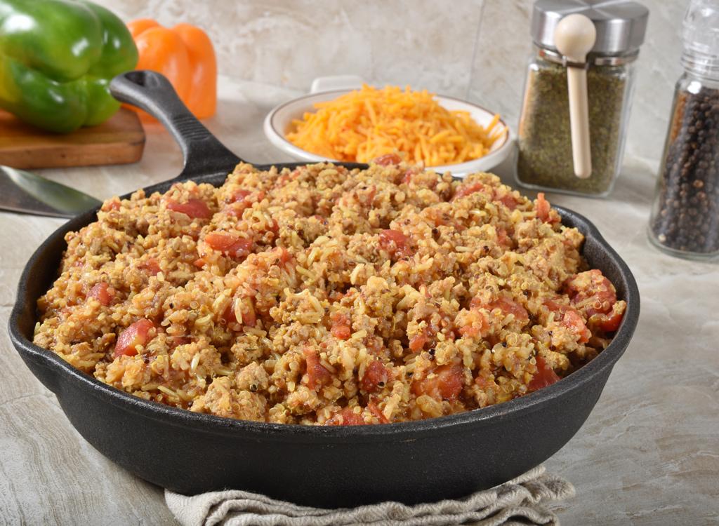 Quinoa and sausage