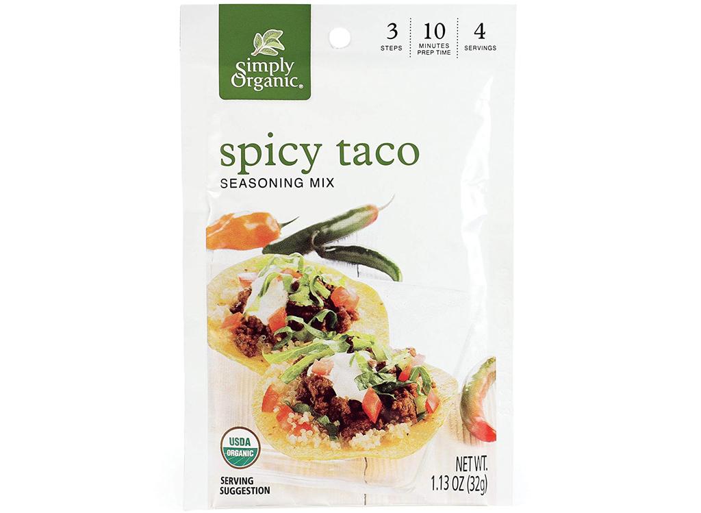 Simply organic spicy taco seasoning mix