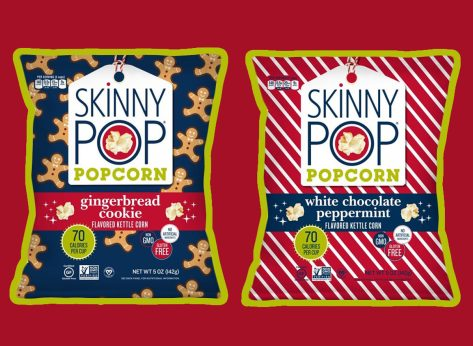 Skinny Pop Holiday Popcorn Flavors 2018 Gingerbread Cookie White Chocolate Peppermint