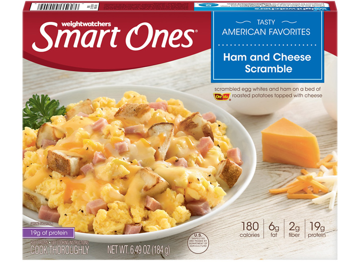 Smart Ones ham and cheese scramble